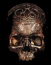 DAVID HOWARD TRIBAL ART DAYAK REAL HUMAN TROPHY SLULL