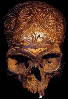 DAVID HOWARD TRIBAL ART DAYAK HEADHUNTING HUMAN TROPHY SKULL
