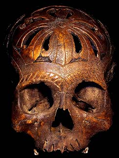 DAVID HOWARD TRIBAL ART DAYAK TROPHY SKULL