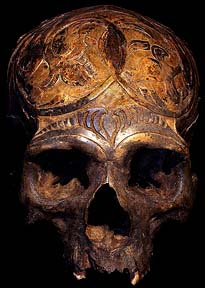 DAYAK HUMAN SKULL DAVID HOWARD TRIBAL ART