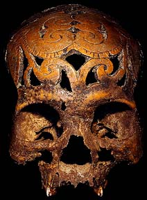 DAVID HOWARD TRIBAL ART DAYAK SKULL