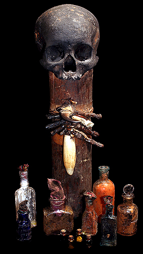 DAYAK MAGIC MEDICINE REAL HUMAN SKULL BOX