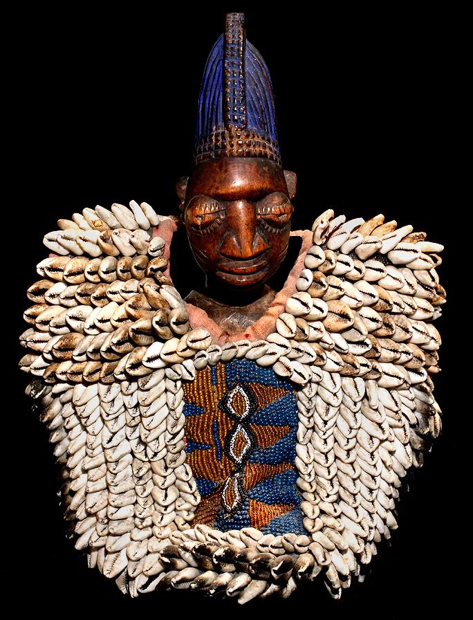 African Art Yoruba Beaded Ibeji Twins Yoruba Shango Bag